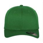 Flexfit Fitted Baseball Cap lippis brodeerauksella Pepper Green